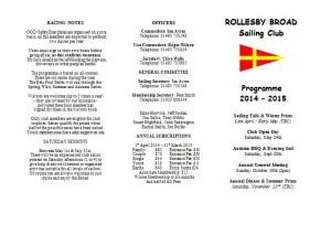 RBSC Programme 2014 - 2015